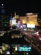 The view of the strip from the Mandarin Oriental.